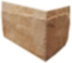 Rockface sandstone wall cladding corner stone