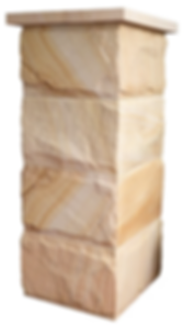 Rock Face Sandstone fence post - column - pillars - for fencing and walls