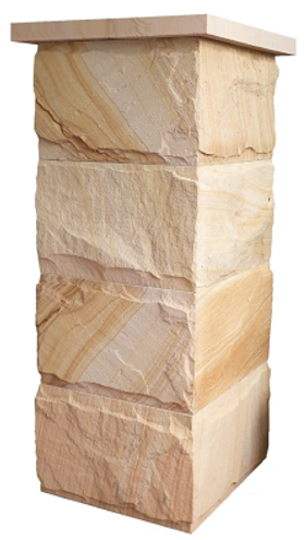 Stone fence post - column - pillars - for fencing and walls