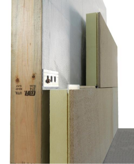Insulated stone wall and veneer cladding system - ventilated facade systems