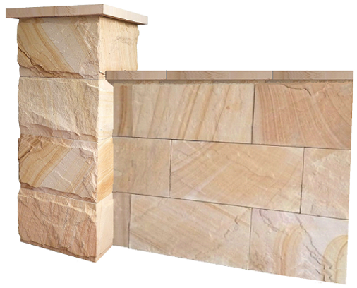 How to build a stone fence the easy way - Sandstone - Wall