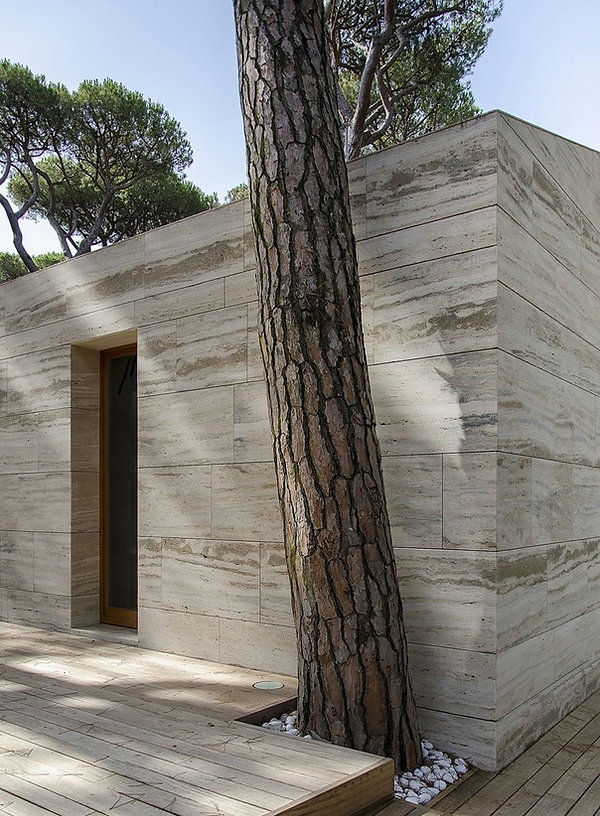 Travertine Porcelain Wall Cladding Panels