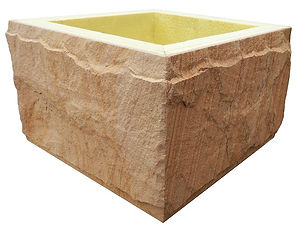 Rock Face Sandstone - Pillar - Post - Column Sections for fence posts and walling