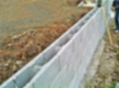 Constructing a retaining wall