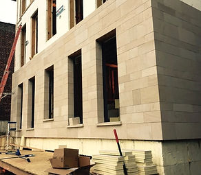 Stunning sandstone siding new building project in New York with EcoSmart Stone