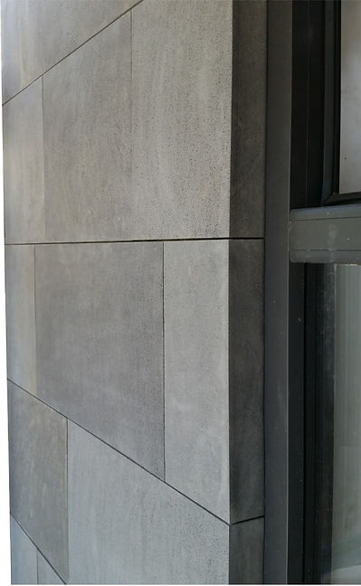 Basalt stone wall cladding - EcoSmart Stone window return setback detail