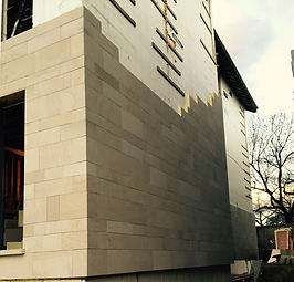 The beauty of natural stone siding with simple cavity fixing system for easy and fast installation.