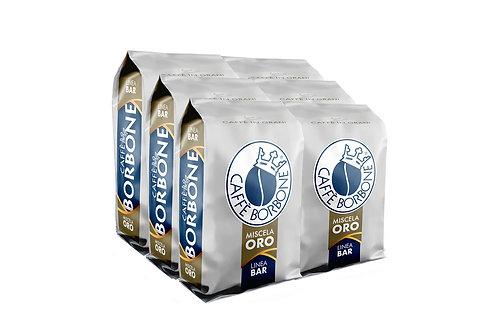 Caffe Borbone Beans (Gold) - Whole Bean Coffee 6/1 KILO Bags Per Case