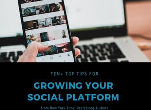10+ Tips for Growing your Online Platform                           from NYT Best Selling Authors