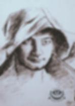 Портрет мужчины, в карандашах, цветные карандаши, искусство, рисование, эскиз.