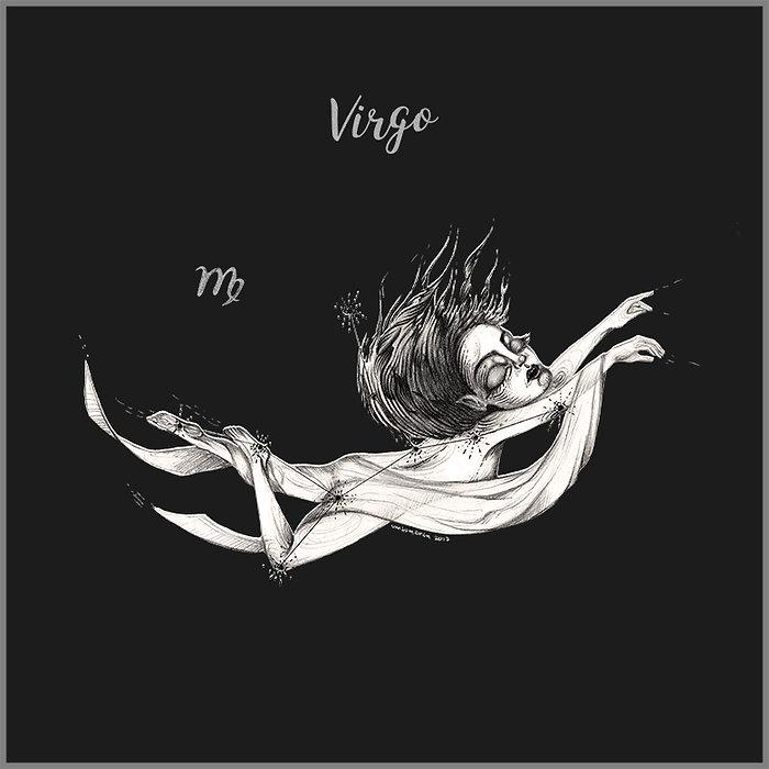 эзотерическая картинка знака зодиака девы в грфике