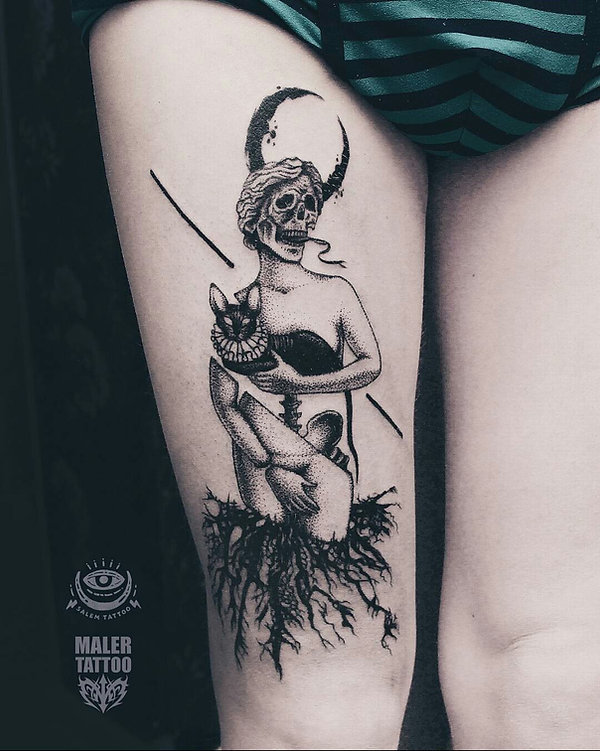 Madonna with a cat on an individual project for the Aleksei! Thank you, Aleksei! Waiting for you for the next tattoo !😜 Мадонна с котом по индивидуальному проекту для Алексея! Спасибо, Алексей! Жду тебя за следующей татуировкой! 😜 #anastasiasalem #salemtattoo #malertattoo #tattoo #individualtattoo #madonnatattoo #cattattoo #madonna #cat #graphictattoo #dotwork #tattoosurrealism #surrealismtattoo #blackwork #tattoomaster #tattooartist #onlyblackart #darkartists #thedarkestwork #татуекатеринбург #тату #татуировка #татумастерица