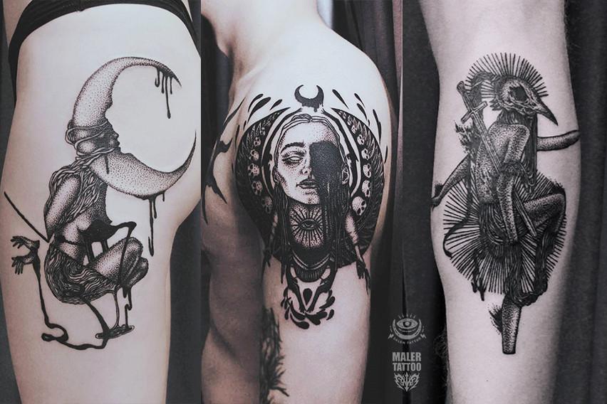 Татуировки от Анастасии Salem в авторском стиле