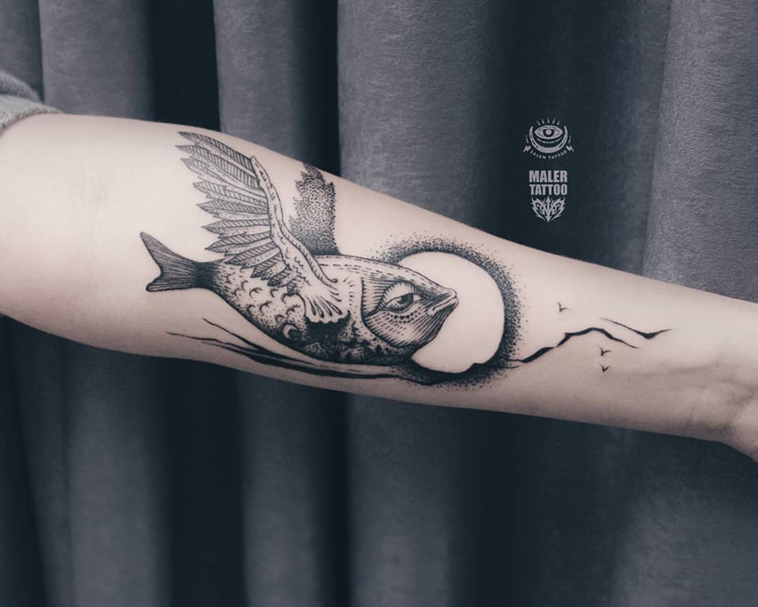 Татуировка по индивидуальному эскизу для Ирины