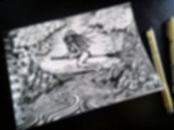 Грвюра, графика, эскиз, рисунок, Екатернбург, мифическая