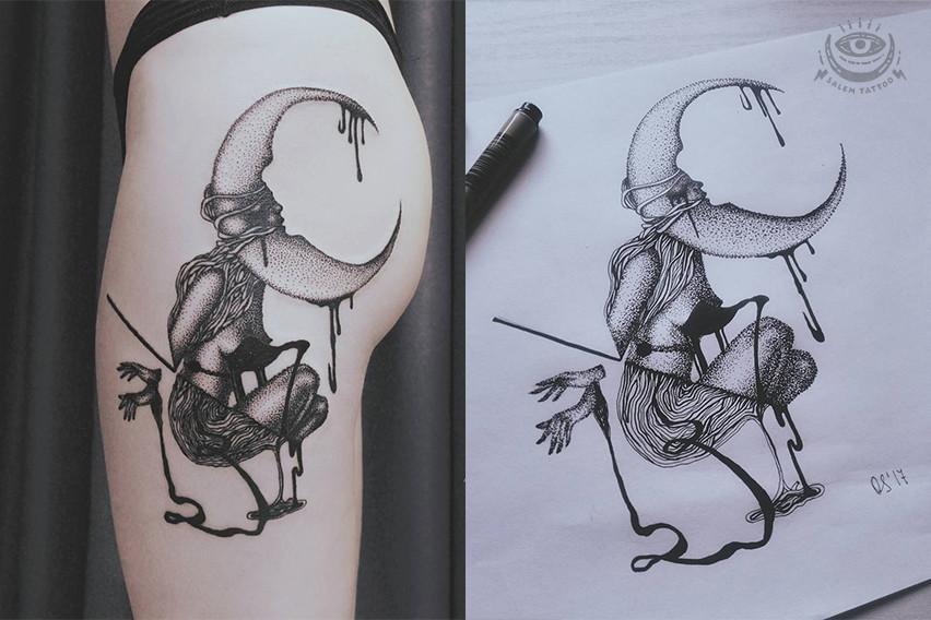 Авторский эскиз, Татуировка для Нины