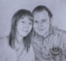 Любовь в карадашах, Портрет в карандашах, цветные карандаши, искусство, рисование, эскиз.