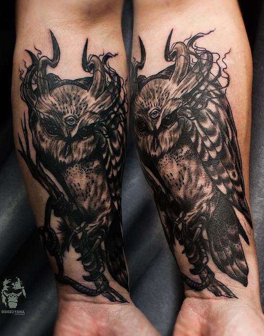 Тату совы, сова, татуировка в екатеринбурге, сделать тату в екб, каталог татуировок екатеринбург, лучшая татуировка 2017, кталог самых крутых тат