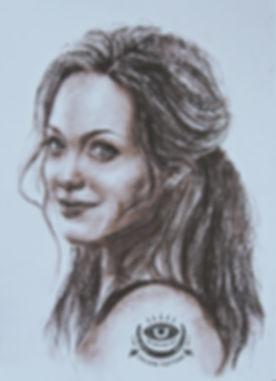 Портрет красивой девушки, в карандашах, цветные карандаши, искусство, рисование, эскиз.