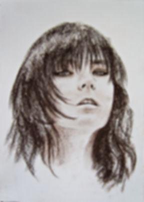 Bjork эскиз, графика, гравюра, в карандашах, цветные карандаши, искусство, рисование