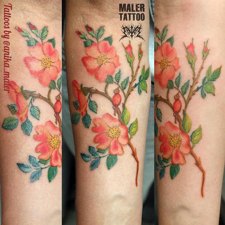 тату цветочек, татуировка цветы, сделать тату в екб не дорого, каталог татуировок, тату для девочки