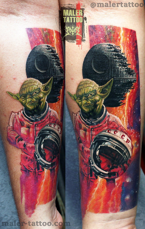 """Ностальгия Советского детства"" - 2016 #yoda #силатату #tattoo #tattoos #inksociety #tattooed #йода #art #тату #татуировка #татуировкаекатеринбург #malertattoo #ink #like4like #малертату #eternalink #tattoorussia #tattoopower #instagram #tattoostudio #love #ekb #tattoolife #ekbtattoo #tattooist #cheyennetattooequipment #inktattoo #hawkpen #ссср #ussr"