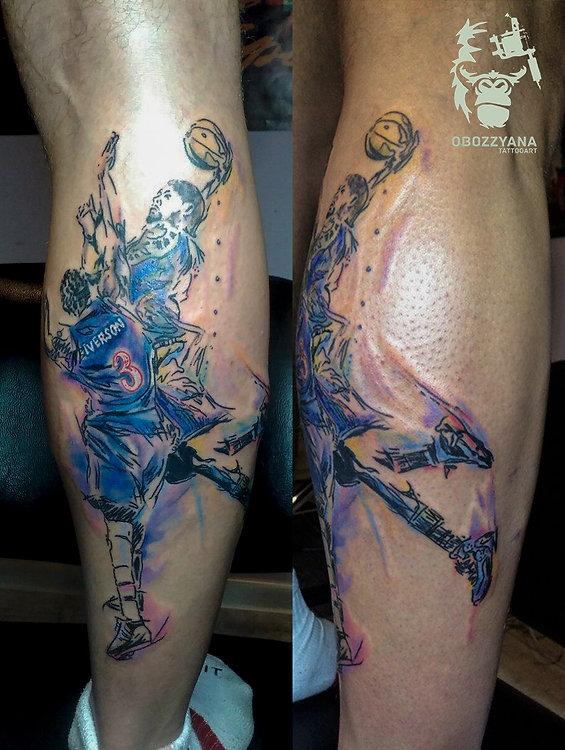 Для баскетболиста! дает + 100 к прыгучести и меткости 1 session, 4.5 hours  увы фото на телефон, бликует((( By me in Art Tattoo & Permanent Make-up St Maler Tattoo studio  #tattooartist #art #artwork #bohemianartist #tattoo #художник #мастертату #арт #иллюстрация #рисунок #тату #эскизтату #sketchtattoo #tats #tattoos #tattooing #tattooist #tattoomodel #drawing #tattoodesign #tattooart #tattooflash #flashtattoo #tattoolife #ink #like4like #tattoolife #tattooekb #obozzyana #basketball #iverson