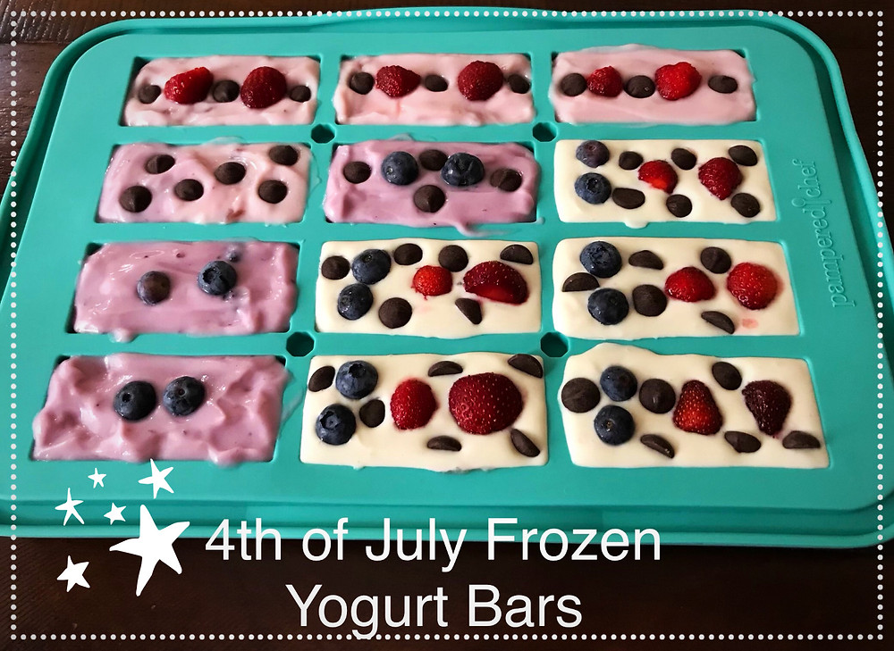 3 Ingredient Frozen Yogurt Bars