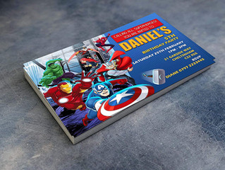 Personalised Avengers Superhero Birthday Party Invitations