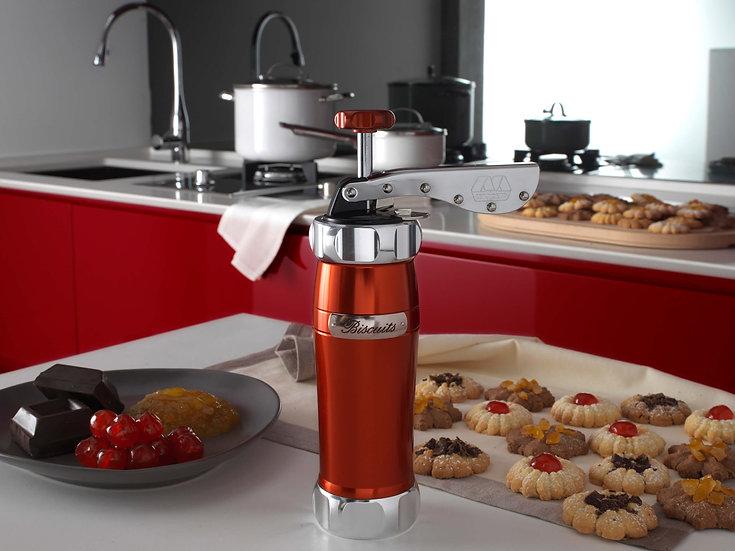 מכשיר  מקצועי להכנת עוגיות אדום  Marcato Biscuit