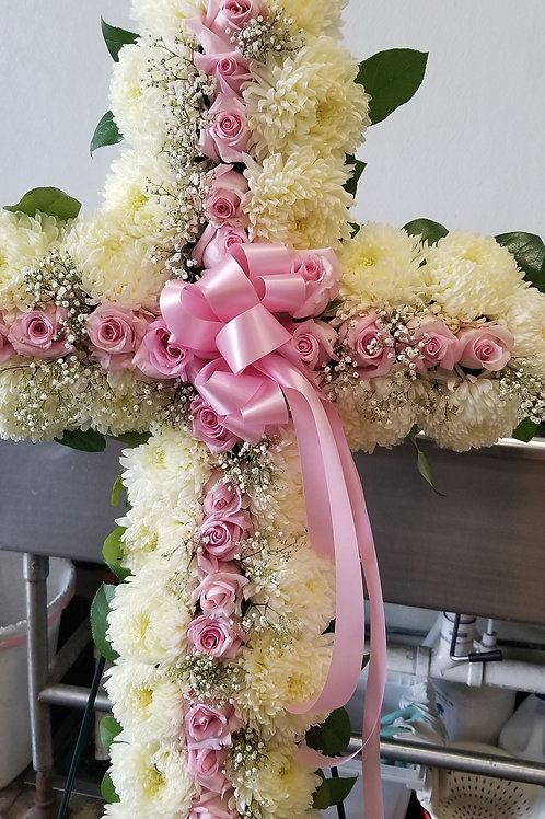 Funeral white and pink