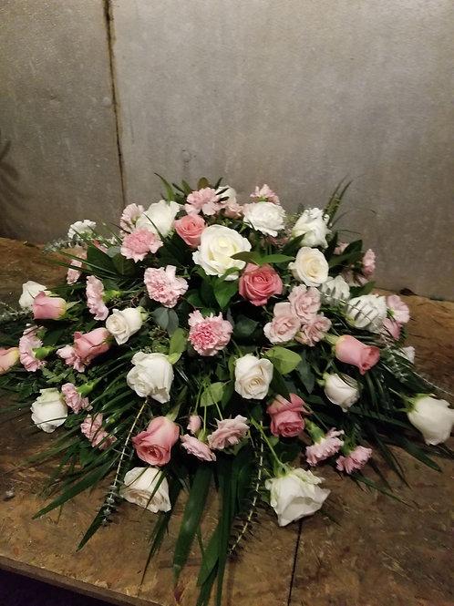 pink casket piece