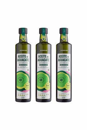 3-Pack Aceite de aguacate orgánico 500 ml.