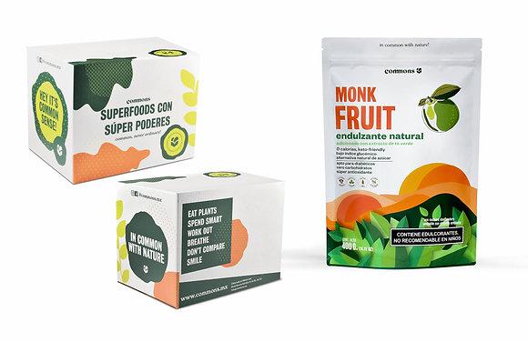 10-Pack Monk fruit adicionado con Té verde