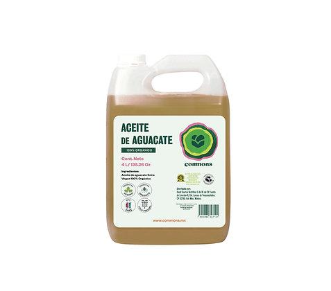 Aceite de aguacate extra virgen Orgánico 4 Litros