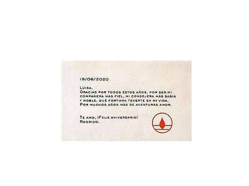 Nota de regalo- Personaliza con un mensaje
