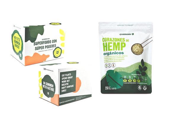 10-Pack Corazones de semillas de Hemp 250g