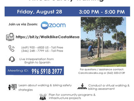 Friday Aug 28 at 3pm: public meeting on making streets better for biking and walking in Costa Mesa