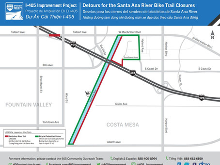 ALERT: SART closed at the 405 July 6-13, 2020 - detours posted