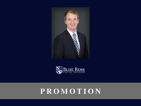 Blue Rose's Max Wilkinson promoted to Assistant Vice President