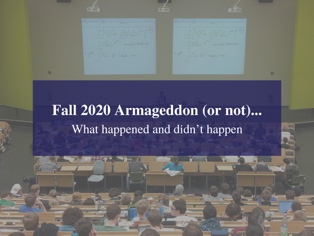 Fall 2020 Armageddon (or not)... What happened and didn't happen