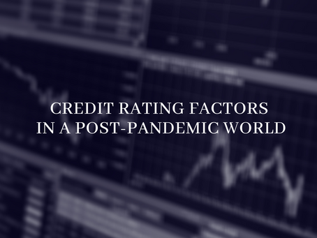 Credit Rating Factors in a Post-Pandemic World
