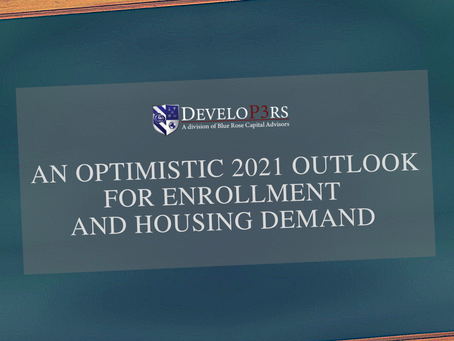 An optimistic 2021 outlook for enrollment and housing demand looking across the valley of COVID-19