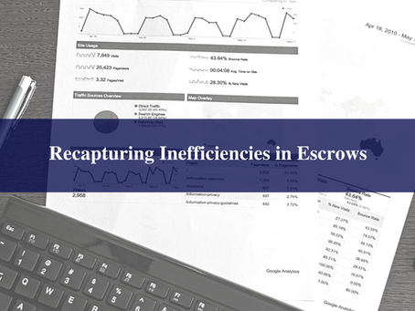 Recapturing Inefficiencies in Escrows