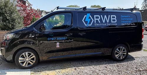 The RWB Electrical Services van