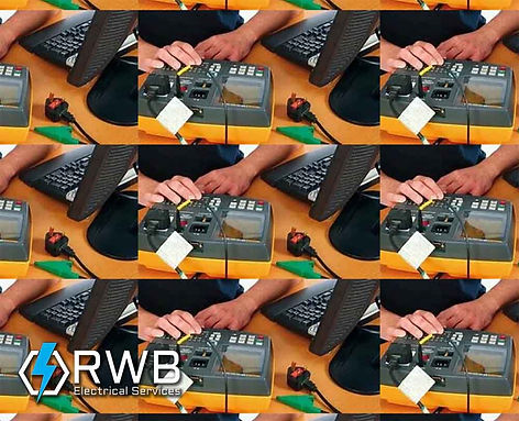 RWB Electrical Services portable appliance testing repeated pattern