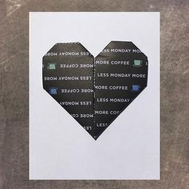 More Coffee Heart Card