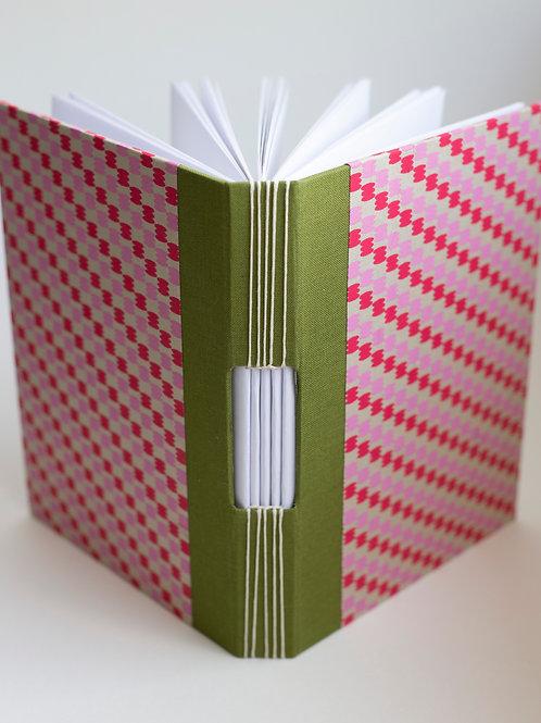 Rosey Red Handbound Journal