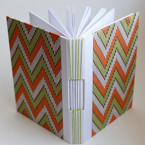 Green and Orange Handbound Journal