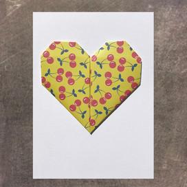 Yellow Heart Card